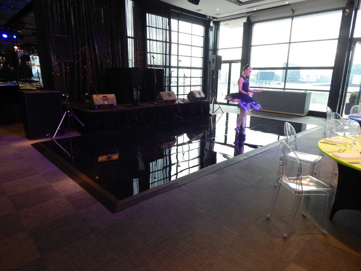 Gloss Black dance floor Melbourne