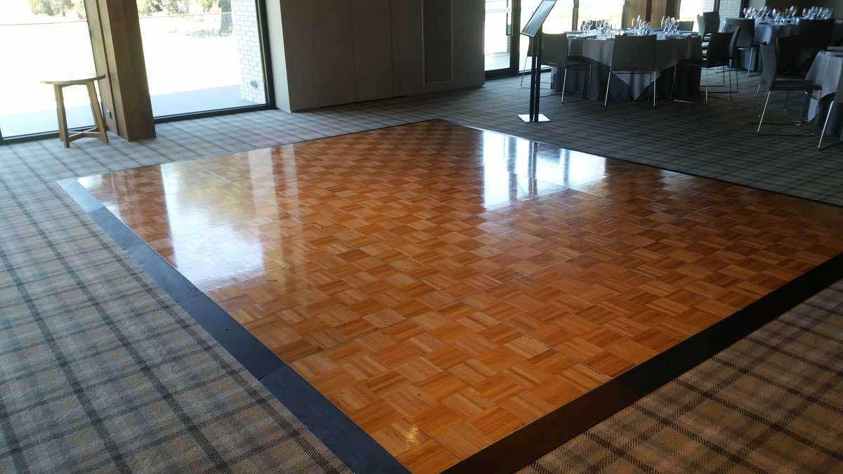 solid timber dance floor Melbourne