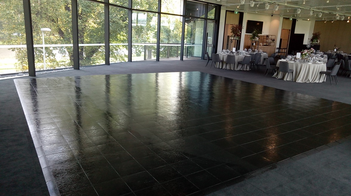 Slate black dance floor